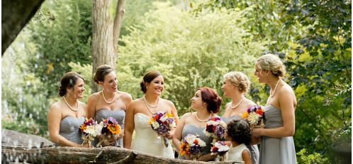 Esmeralda Inn Wedding Bride and Bridesmaids