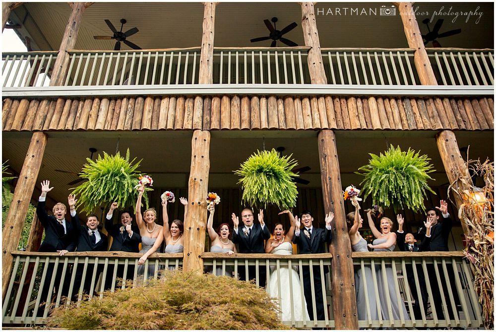 Esmeralda Inn Wedding Party on the Porch