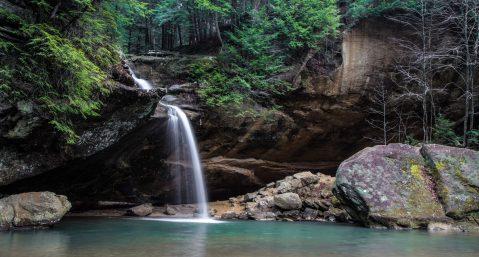 waterfalls near lake lure nc