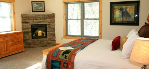 Chimney Rock River Cabin Bedroom 1
