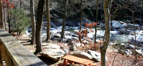 Chimney Rock River Cabin View 1