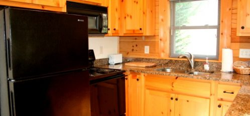 Rocky Broad River Cabin Kitchen