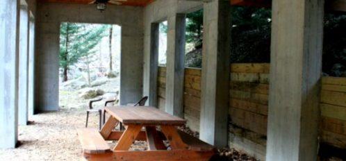 Rocky Broad River Cabin Picnic Table