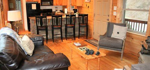 Rocky Broad Cabin Bedroom Living Room
