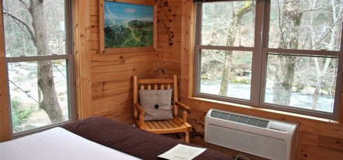 Rocky Broad Cabin Bedroom View