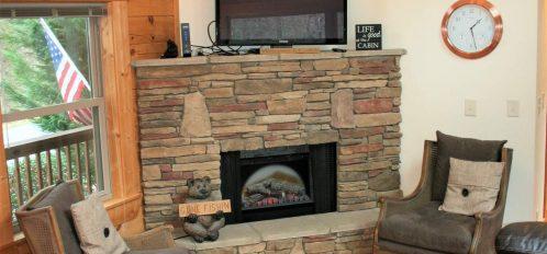 Rocky Broad Cabin Fireplace