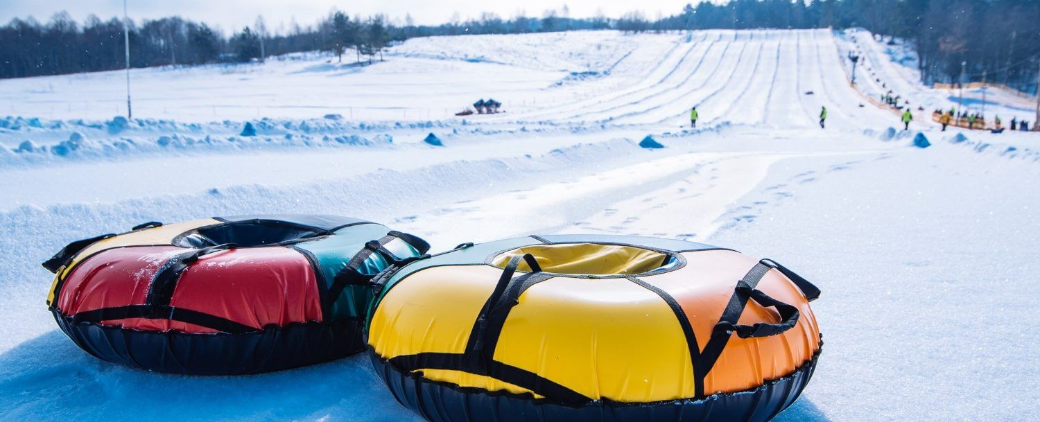 snow-tubes-on-a-slope-near-lake-lure-
