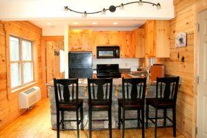 The interior of the Rocky Broad River Cabin at The Esmeralda Inn & Restaurant.