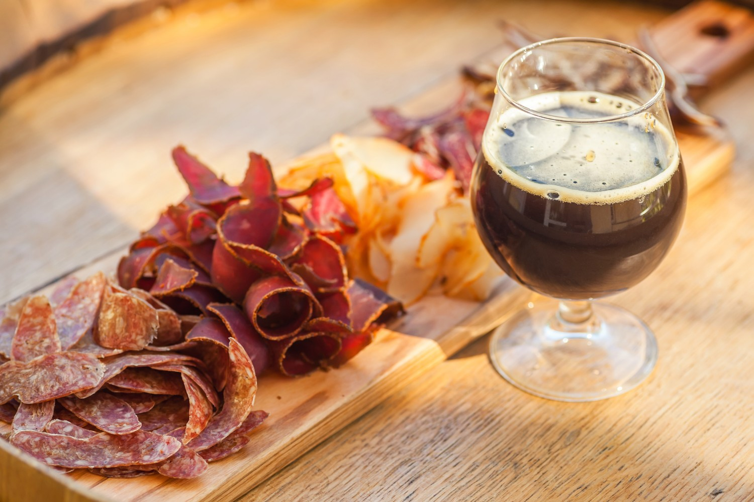 Craft beer and snacks at a local Asheville brewery. Read our blog on Asheville breweries for our top recommendations!