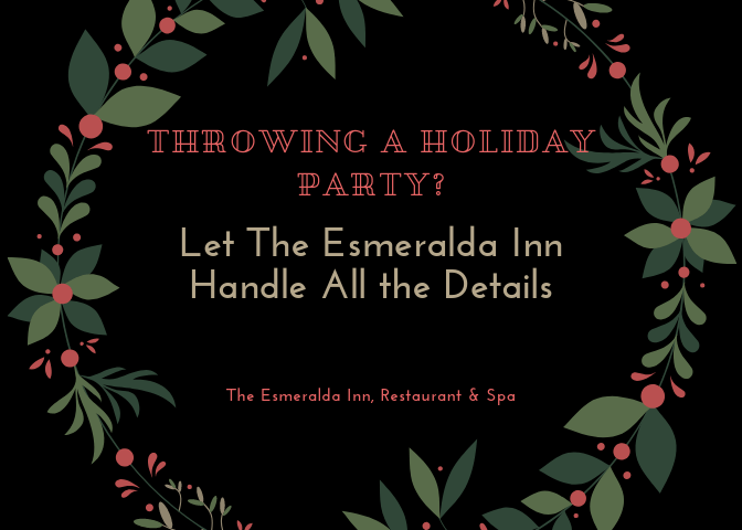 The Esmeralda Inn Holiday Party Graphic