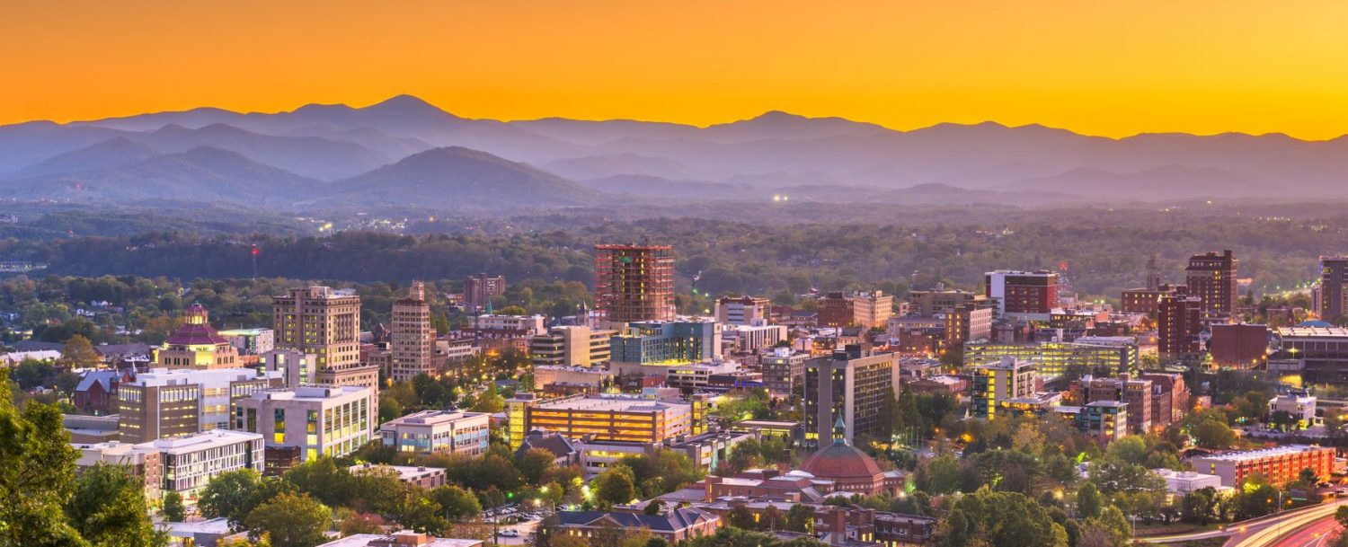 asheville at sunset