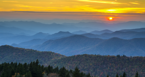 the perfect sunset spots in western NC