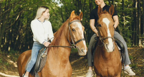 horseback riding near lake lure, NC