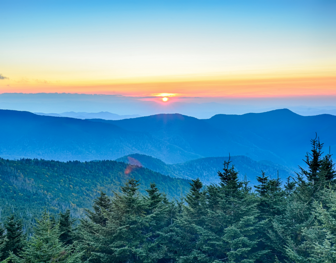 Western North Carolina mountains with the best views